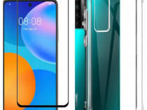 Huawei P SMART 2021 / Z Husa Silicon Anti Soc + Folie Sticla