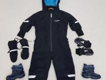 Salopeta iarnă, combinezon, Overall Everest mănuși si ghete