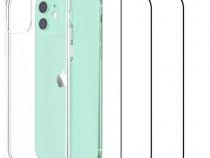 Iphone 12 / MINI / PRO / PRO MAX - Husa Silicon + Folie Stic