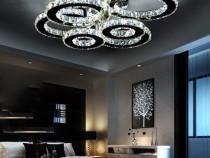 Lustra LED cu telecomanda, lumina naturala + calda + rece