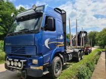 Volvo FH 12 forestier cu remorca
