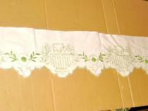 B595-Cusatura veche pentru draperie usa, geam Romania manual