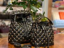 Genti Valentino new model capse aurii,saculet inclus