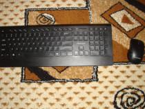 Set tastatura wireless + mouse wifi cu senzor usb
