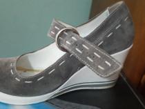 Pantof piele intoarsa Agressione