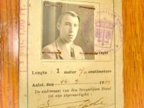 B988- Legitimatie veche Olanda Belgia anul 1939.