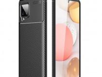 Husa Carbon Neagra + Folie Sticla Samsung A42 A51 A71 5G