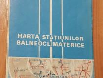 Harta Statiunilor Balneoclimaterice din Romania