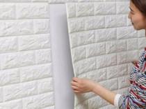 Tapet 3D auto_adeziv cărămidă albă