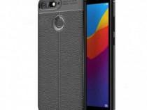 Husa telefon silicon Huawei Y6 2018 Black Carbon Autofocus