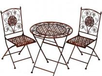 Set de gradina din fier forjat cu masa si doua scaune Antik