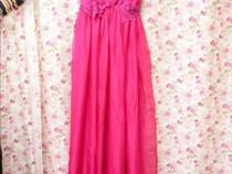 Rochie de seară deosebită (ciclam)