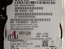 "Hard Disk-HDD Sata 2,5"" HDD-250 Gb Western WD2500BEVT-22ZCT0"
