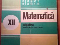 Carte matematica clasa a 12-a