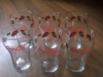 Set 6 pahare de sticlă Coca-Cola