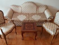 Set canapea extensibila si 2 scaune, stil Baroc