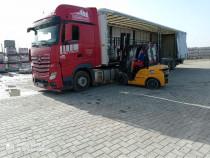 Transport Tir, camion cu macara