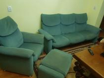 Canapea fixa+ fotoliu rabatabil