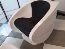 Unitate de spalat (scafa), scaun, suport picioare coafor