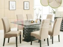 Set 6 huse elastice pentru scaune culoare Crem Deschis