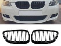 Grile Duble Negru Mat BMW E92/E93 2007-2010