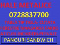 Hale metalice , panouri sandwich , profile hala
