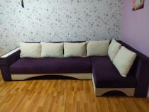 Canapea extensibila tip coltar