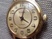 Ceas mecanic rusesc Slava, cal. 1601, 17 jewels, anii 80
