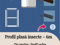 Profil plasa insecte 6m Alb Maro Gri NOU Usi Ferestre