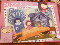 Puzzle clasic noriel, scufita rosie si lumea vesela ferma, 2