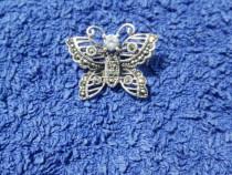 Brosa fluture argint masiv 925