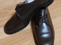Pantofi din piele bărbătești maro 43 cm!