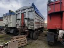 Remorca cereale agricola basculabila 30 metri cubi bena alum
