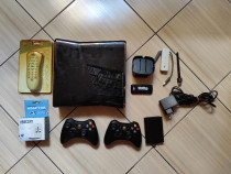 Xbox 360: Consola, controllere, HDD, stand/adaptor kinect,