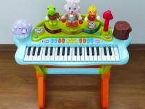Orga electronica interactiva cu microfon pentru copii