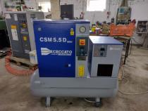 Compresor cu surub 4 kw rezervor 200 litri