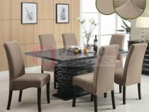 Set 6 huse elastice pentru scaune culoare Bej