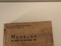 Carte veche modelar si hartii de cartoane fine