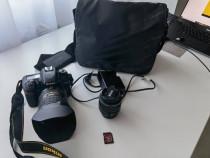 NIKON D7500 KIT CU 2 OBIECTIVE,18-55mm SI 16-80mm,CARD 128GB