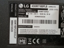 Televizor LG Model 43um7100PLB