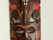 2 Masti decorative din lemn de abanos hand made Kenya