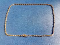 C573-I-Lant ceas buzunar vechi alama in patina lungime 49 cm
