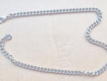 C624-Lant ceas buzunar zale plate alama argintata.