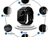 Ceas Smart watch X6, Ecran curbat, Ecran IPS, Camera, SIM
