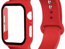 Ceas Apple Watch Seria 1/2/3/4/5/6/SE - Curea Silicon + Husa