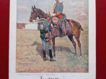 Lot 2 carti postale litho Socecu armata romana