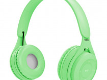 Casti wireless MRG MYO8, Handsfree, Cu bluetooth, Verde C577