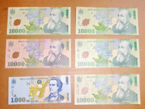 C719-Lot 6 Bancnote Romania moderna. Pret pe lot.