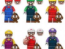 Set 6 Minifigurine tip Lego Super Mario Bros cu Mario si Lui