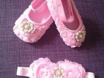 Set pantofiori si bentita 0-18 luni